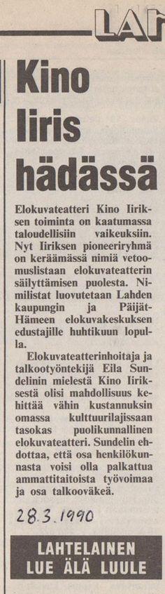 Iiris kino  - Lahti  Päijäthämeen elokuvakeskus - TARINA |