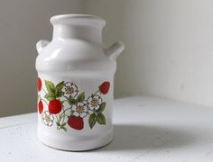 I WANT THIS!!!   Strawberry Farm  Vintage Strawberry Jug by BootsNGus on Etsy