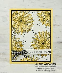 Sunflower Cards, Stamping Up Cards, Cute Cards, Scrapbook Cards, Homemade Cards, Cardmaking, Birthday Cards, Delicate, Mini
