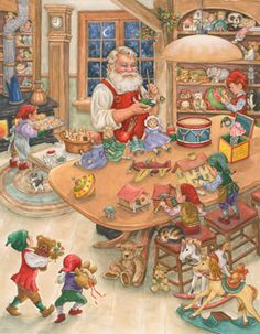 Santa's Toy Shop Jigsaw Puzzle   1000 Piece Puzzles   Vermont Christmas Co. VT Holiday Gift Shop