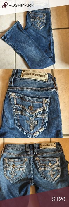 Rock Revival Rock Revival Luz boot. Size 27x32 great condition. Sell or trade for other Rocks Rock Revival Jeans Boot Cut