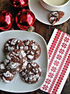 Double Chocolate Espresso Crackle Cookies