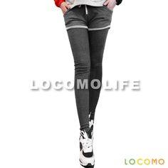 Women Fake Two Piece Short Sport Legging Pant Dark Gray