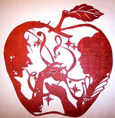 Cuentos de papel: la manzana envenenada por Illeander ~ on deviantART