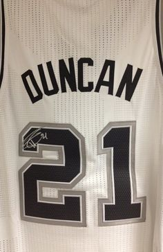 Autographed Tim Duncan Jersey - bid soon, online auction ends at midnight tonight!