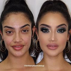 24 Incredible Before And After Makeup Transformations After you have a look at these before and after makeup looks, you will never doubt the fact that magic exists. What is more, you can master it, as well! Le Contouring, Contouring And Highlighting, Insta Makeup, Eye Makeup, Hair Makeup, Makeup Before And After, Power Of Makeup, How To Apply Mascara, Crazy Makeup