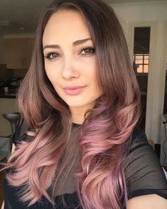 Ombre hair style best of pink makeup and ombré hair modelled by sometimesja Pink Ombre Hair, Blond Ombre, Caramel Ombre Hair, Brown And Pink Hair, Beliage Hair, Dye My Hair, Cabelo Rose Gold, Look Fashion, Hair Trends