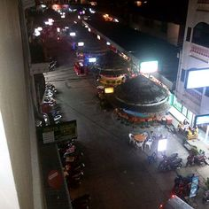 The podium style bars, top view, that run along the side street of Sinamyen road Patong. Bars And Clubs, Top View, Phuket, Nightlife, More Fun, Times Square, Scene, Street, Nice