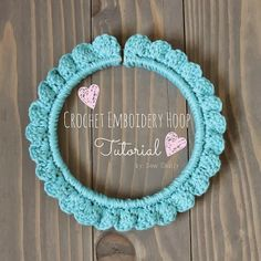 crochet embroidery hoop tutorial by sew chatty