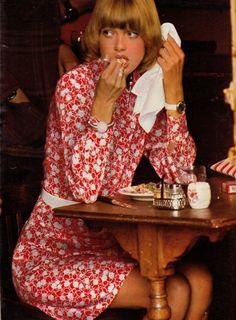 Dress: I.D., Bracelet: Boutique Fabrice, Belt: Popard Elle, France - June 28 1971, Photographed by Mike Reindhart