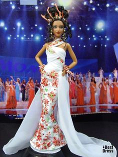 Ninimomo's Barbie. Австралия и Океания. 2009/2010 ~ that gown is priceless ~ that hairstyle is like wow ~ Lovee :)