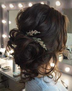Loose Curls Updo Wedding Hairstyle Hairgasms Wedding Hairstyles