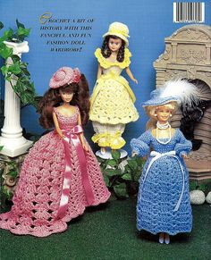 Timeless Fashion Doll Wardrobe Volume 3 - fits Barbie - Crochet Pattern Book 695. back cover