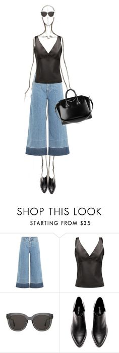 """""""Denim Culottes"""" by katsin90 ❤ liked on Polyvore featuring Closed, Loewe, Gentle Monster and Givenchy"""