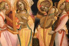 Giovanni dal Ponte, Polittico dell'Incoronazione della Vergine, dettaglio (dopo il restauro in occasione della mostra dal  22 novembre 2016 al 12 marzo 2017  a Firenze,  Galleria dell'Accademia)