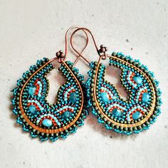 I love these - because they prove that the beading doesn't have to be perfect for a piece to be exquisitely beautiful