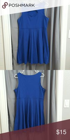 Blue swing dress Blue dress with front cut out. Super cute and great to pair with fun bold colors. Xhilaration Dresses Mini