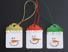 Snowman Gift Tags | Ideas For Fun and Creative DIY Christmas Gift Tags