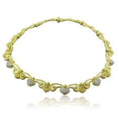 Estate Vahe Naltchayan 18k Yellow Gold Diamond Necklace