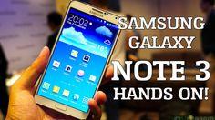 Samsung Galaxy Note 3 Hands on!