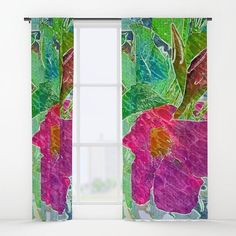 Cheerful Periwinkle Window Curtains...http://ow.ly/UW9330bf4dG #periwinkle #flower #plant #bloom #seed #garden #Spring #blossom #petals