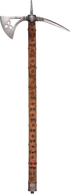 A RARE ITALIAN BATTLE AXE C.1575-1600