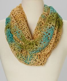 Loving this Olive & Tan Light Woven Infinity Scarf on #zulily! #zulilyfinds