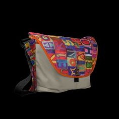 Modern bag with letters courier bags