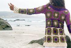 Suéter largo hippie ganchillo orden especial solamente de