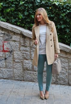 Spring in Advance.  #fashion #style #outfit  #look , Zara in Trenches, Zara in Pants, Bimba & Lola in Bags