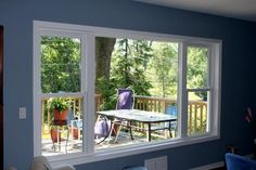 Contact EverLast Windows in Newburg, PA, whether you need windows for a new home or brand new replacement windows for your existing residence. American made windows; Dining Room Windows, Bedroom Windows, House Windows, Vinyl Windows, Front Windows, Front Doors, House Outer Design, House Design, Woodworking Outdoor Furniture