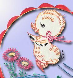 1950s Darlin' Duck Transfer 4 Baby Linen Uncut Orig   eBay