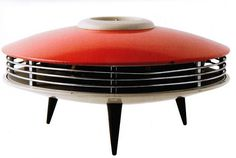 ITHO brand space heater from 1960s. Flying saucer retro chic.