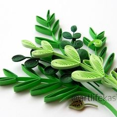 last pic of my greens for today! #quilling #quilled #leaves
