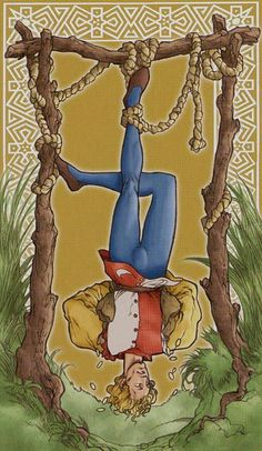 XII. The Hanged Man - Universal Wirth Tarot by Giordano Berti & Stefano Palumbo. This card symbolizes one of the stages of the Fool's Journey towards self-discovery. The Fool stands for all of us.