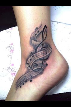 music tattoo!!