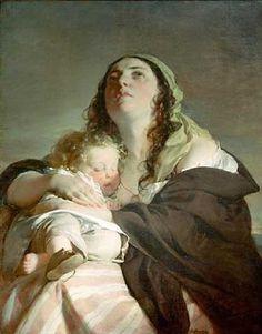 The Widow by Friedrich von Amerling