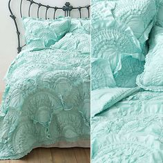 """Anthropologie Rivulets Quilt ($318-$368) _ """"I've been wanting this in mint for so long! I am in need of a fresh new look for my bedroom once the new year rolls around. This will encourage me to sleep more."""""""