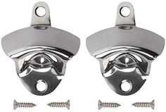 Wall Mounted Bottle Opener 2 Pack  Stainless Steel Bottle Opener with 4 Mounting Screws  Classic Wall Beer Bottle Opener ** For more information, visit image link.Note:It is affiliate link to Amazon.
