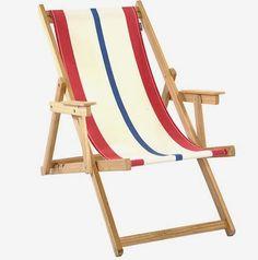 MONOQI | Beach Chair - Red/White/Blue
