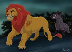Kion and Janja Kiara Lion King, Lion King 1, Lion King Fan Art, Lion King Movie, Disney Lion King, Anime Lion, Lion King Series, Lion King Drawings, Lion King Pictures