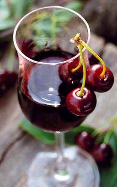 Wino z czereśni przepis. Wina domowe sprawdzone przepisy, Cherry wine homemade. Red Wine, Alcoholic Drinks, Fruit, Glass, Liquor, Alcoholic Beverages, Drinkware, The Fruit, Red Wines