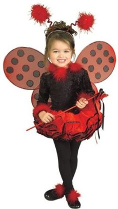 Child's Costume, Lady Bug Tutu Costume.  $13.19 - $65.31            Ladybug, ladybug, dancing around with your polka dot wings. Costume includes one piece leotard with attached red tutu features layers of chiffon tulle. Also includes headpiece, wand, and shoe decorations - and completed with red wings with black polka dots. Sweet costume c...