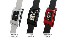 Pebble will launch this September in Arctic White, Jet Black, Cherry Red, and a fourth color to be voted on by our Kickstarter backers. Downloadable watch faces with several styles and functions will also be available to really make Pebble your own.