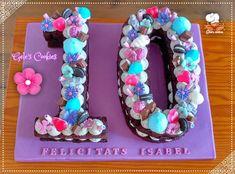 Biscuit Number 10 Cake by Gele's Cookies Number Birthday Cakes, Funny Birthday Cakes, Number Cakes, Birthday Numbers, Birthday Cake Girls, Foto Pastel, Sleepover Birthday Parties, Bday Girl, Girl Cakes