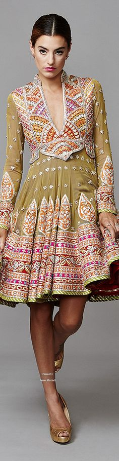 #Funky #Desi Fashion by @ajskofficial http://www.AbuSandeep.com/ 2015