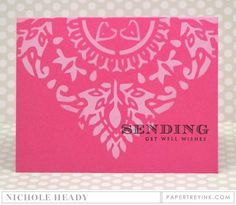Get Well Wishes Card by Nichole Heady for Papertrey Ink (June 2016)