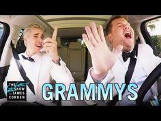 Justin Bieber & James Corden's Post-Grammys Drive - YouTube