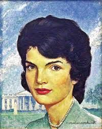 "Norman Rockwell Portrait of Jackie Kennedy, Oil on canvas, x Story illustration for ""How Jackie Restyled the White House,"" Saturday Evening Post, October Collection of Mica and Richard Hadar. ©SEPS: Licensed by Curtis Norman Rockwell Prints, Norman Rockwell Paintings, Les Kennedy, Jackie Kennedy, Caricatures, Art Prints For Sale, Fine Art Prints, Saturday Evening Post, Portraits"