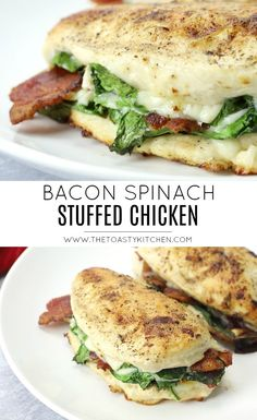 Bacon and Spinach Stuffed Chicken - The Toasty Kitchen stuffedchicken stuffedchickenrecipe chickenrecipe chickenbreastrecipes baconchicken bacon chicken spinachstuffedchicken spinach dinnerrecipes dinnerideas easyrecipe easydinner 684547212093837060 Turkey Recipes, Meat Recipes, Cooking Recipes, Healthy Recipes, Salad Recipes, Recipies, Sandwich Recipes, Fish Recipes, Cheap Clean Eating